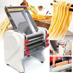 Commercial Pasta Press Maker Electric Noodle Machine Dough Roller 3mm 9mm Cutter