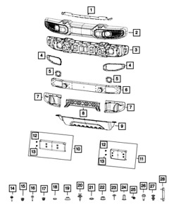 Genuine Mopar License Plate Kit 68293738aa