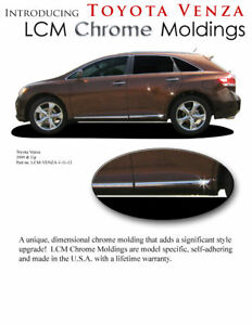 Chrome Body Side Moldings Lower Trim Mouldings For Toyota Venza 2009 2015