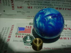 Custom Blue Pearl 2 Shift Knob Peterbilt Kw Mack Hot Rod Car Truck