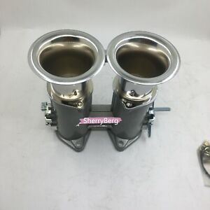 45dcoe Twin 45mm Throttle Bodies Body Air Horns Stacks For Weber Dellorto Carb