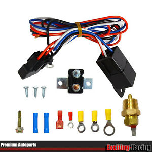 3 8 12v Electric Radiator Engine Fan Thermostat Temperature Switch Relay Kit
