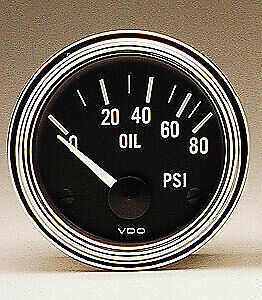 Vdo Gauges 350303 Vdo Series 1 Style Electrical Oil Pressure Gauge 2 1 16 Diam