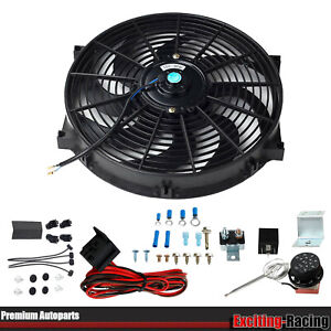 14 electric 2500cfm Radiator Cooling Fan thermostat Control Auto Relay 30in Wire