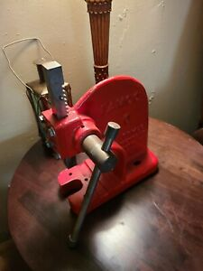Famco 0 Arbor Press Ratcheting Machinist Tool Vintage Red Usa