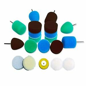 Mini Detail Polisher Pads 1 Inch Buffing Pad Kit For Mini Polisher Electric
