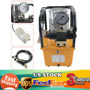 110v 750w Electric Driven Hydraulic Pump 10000 Psi Double Acting 7l Oil Capacity
