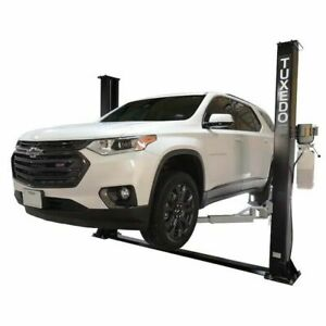 New Tuxedo 9 000 Lbs 2 Post Auto Lift Asymmetric With Free Truck Adapters