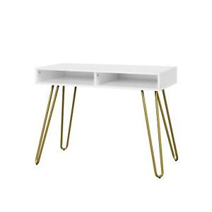Modern Writing Desk Computer Home Office Laptop Workstation Study Table White