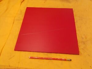 Red Expanded Pvc Plastic Sheet 1 4 X 12 X 12 Vacuum Thermoform Foam Board
