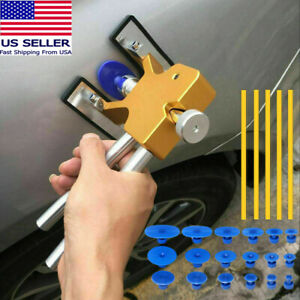 Car Paintless Dent Repair Puller Kit Dint Hail Damage Remover Lifter 18 Tab Tool