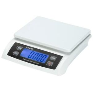 66 Lb X 0 1 Oz Lcd Display Digital Shipping Postal Scale With Ac Adapter White