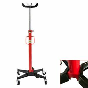 1100lb Portable Transmission Jack Work Shop Foot Pump High Lift Stand Tool