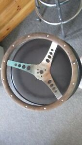 Vintage The 500 Superior Performance Products Wood Steering Wheel