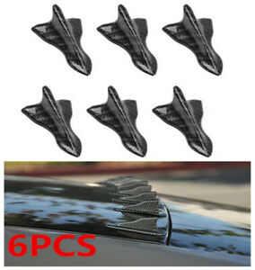 Parts Accessories Car Funny Stickers Carbon Fiber Shark Fin Roof Spoiler Decals