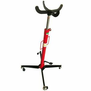 1100 Lb Auto Car Transmission Jack Foot Pump Loaded High Lift Stand Steel Red