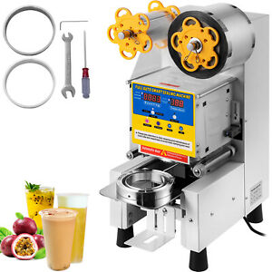 Electric Fully automatic Bubble Tea Cup Sealing Machine 450w 400 600 Cups hour