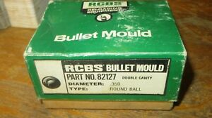 RCBS Double Cavity 36 caliber round ball mold new in box old store stock. $119.99