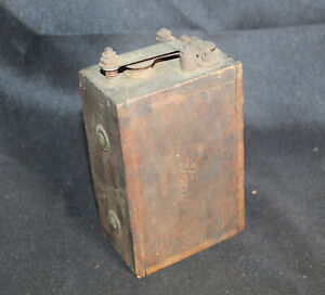 Antique Ford Model T A Auto Car Wood Ignition Spark Coil Box Buzz Coil