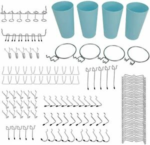 Pegboard Accessories Organizer Kit 13 Different Types Pegboard Hooks Included