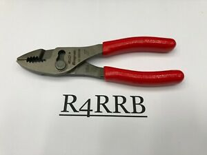Snap on Tools Usa New Red Soft Grip 6 Combination Slip Joint Pliers 46acf