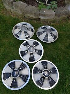 5 Pcs 1966 1967 1968 Plymouth Mag Style Wheelcovers Hub Caps Wheel Cover A b