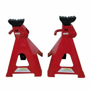 1 Pair Of 12 Ton Jack Stands Truck Car Emergency Lift Tool Red Q235 Steel