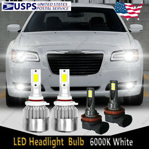 For Chrysler 300 2011 14 200 2013 15 9012 Led Headlight H11 Fog Light Bulb C6b