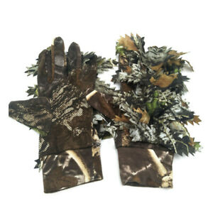 Jungle Longleaf Ghillie Gloves 3D Bionic Leafy for Outdoor Hunting Airsoft Camo $15.99