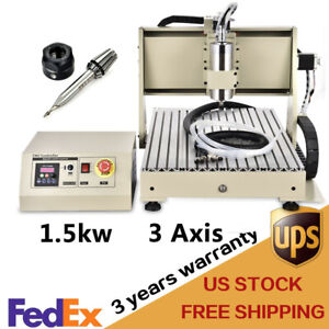 1 5kw 3 Axis Cnc Router 6040 Engraving Milling Machine Engraver Router Kit 1500w