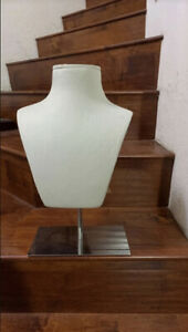 Atrezzo Spain Bust Forms Torsos Jewelry Necklace Mannequin Stainless Steel Stand
