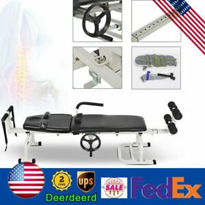 Traction Bed Folding Massage Bed Table Cervical And Lumbar Traction Bed Us Ship