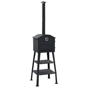 Vidaxl Outdoor Pizza Oven Charcoal Fired With 2 Fireclay Stones