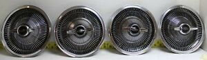 Nos Oem Gm 15 Spinner Turbine Finned Hub Caps 1964 1967 Buick Riviera Sup w268