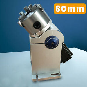 80mm Laser Rotation Axis Rotary Attachment With Driver For Laser Marking Machine
