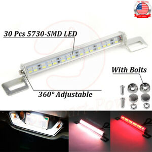 Universal License Plate Mount High Power Led Back Up Light For Car Suv Truck Fits Ford Racing