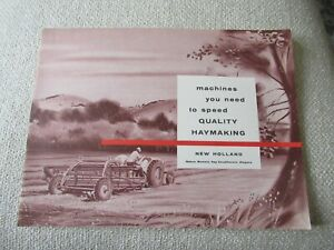 Ford New Holland Rakes Mowers Hay Conditioners Wagons Tractor Brochure