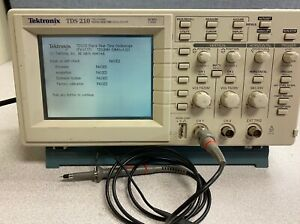 Tektronix Tds 210 2 Channel Digital Real time Oscilloscope 60mhz 1gs s
