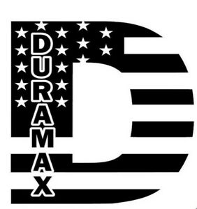 Duramax American Distressed Flag Window Sticker Decal Diesel Truck Gmc Usa White