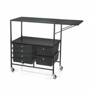 Essex Rolling Cart By Simply Tidy black White New