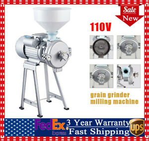 2200w Electric Grinder Wet Dry Cereals Rice Corn Grain Coffee Wheat Feed Mill Us