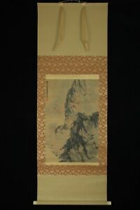 Apr044 Chinese Hanging Scroll Land Scape Hand Painted By Fubaoshi