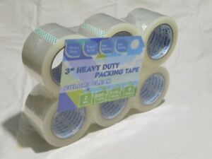 48 Rolls 3 Inch Clear Packing Tape 3 x110 Yards Strong Heavy Duty Adhesive Tapes