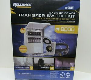 Reliance Back up Power 6 circuit Complete Transfer Switch Kit Model 306lrk New