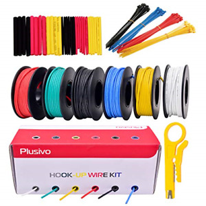 22awg Silicone Hook Up Wire 22 Gauge Stranded Tinned Copper Wire With Silicone