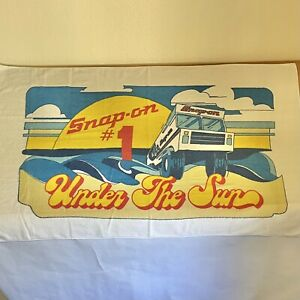 Vtg Snap on Tools Beach Towel 1 Under The Sun Retro Summer Waves Mechanic