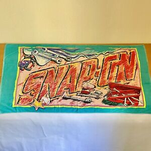 Vintage Snap on Tools Beach Towel On The Sandy Beach Retro Colors Mechanic Towel