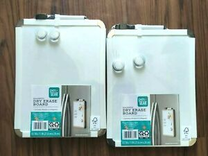 Magnetic Dry Erase Board White 8 5 X 11 Includes 1 Marker 2 Magnets Lot Of 2