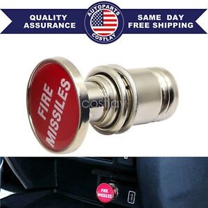 Universal Red Fire Missiles Push Button Car Cigarette Lighter Replace Accessory