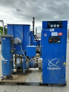 2 Quincy Air Compressors 50 Horsepower With Dryer